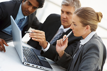 business people use internet on laptop